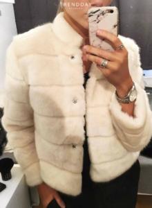 hvid faux fur