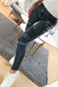 imiteret læder bukser